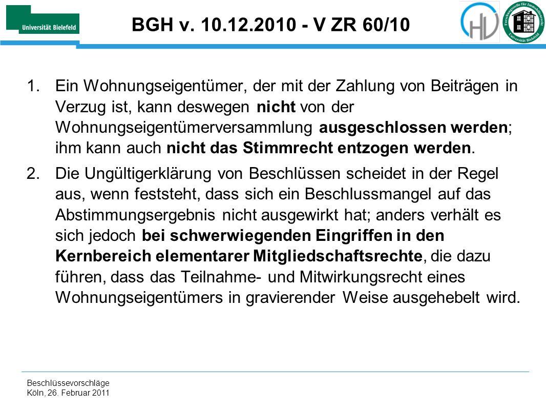 BGH v. 10.12.2010 - V ZR 60/10