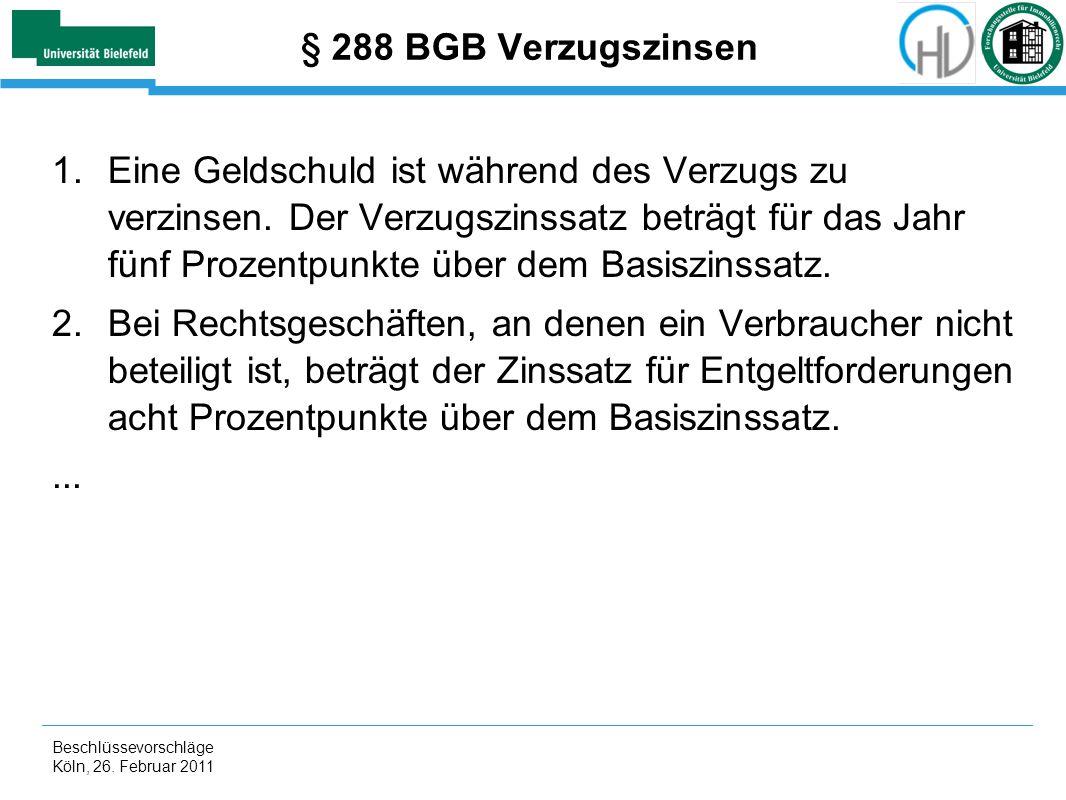 § 288 BGB Verzugszinsen