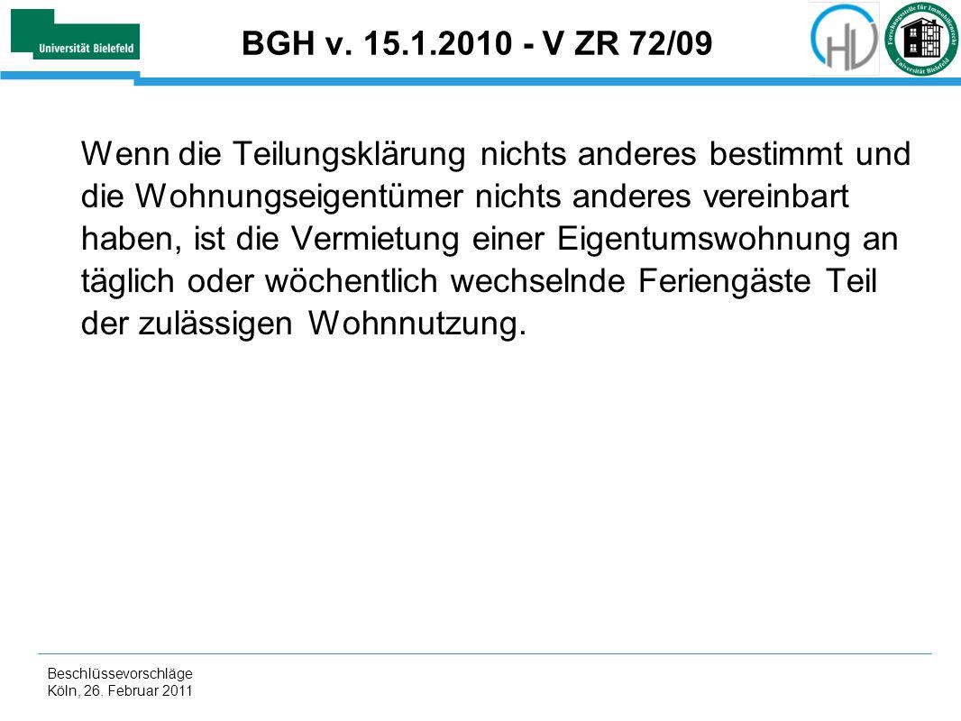 BGH v. 15.1.2010 - V ZR 72/09