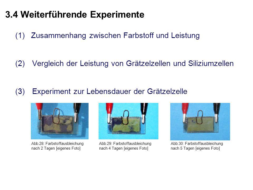 3.4 Weiterführende Experimente
