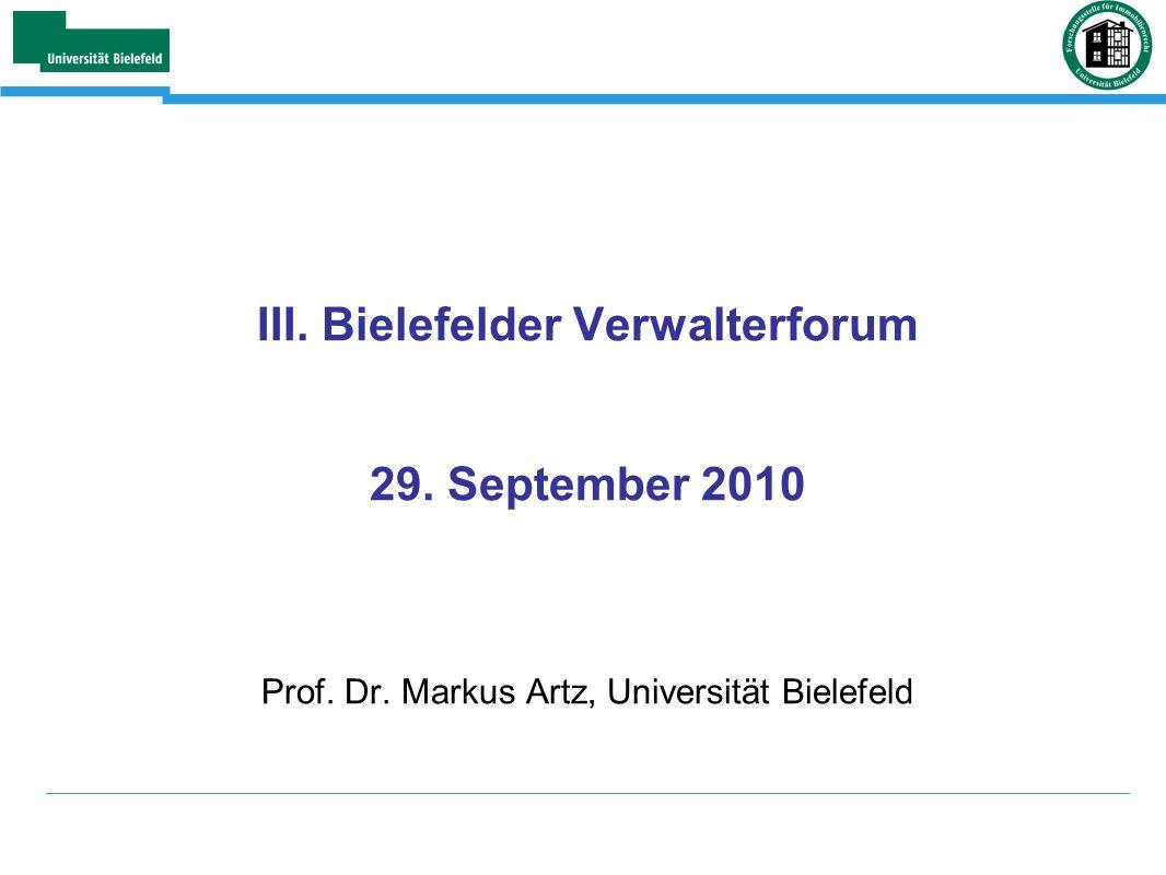 III. Bielefelder Verwalterforum