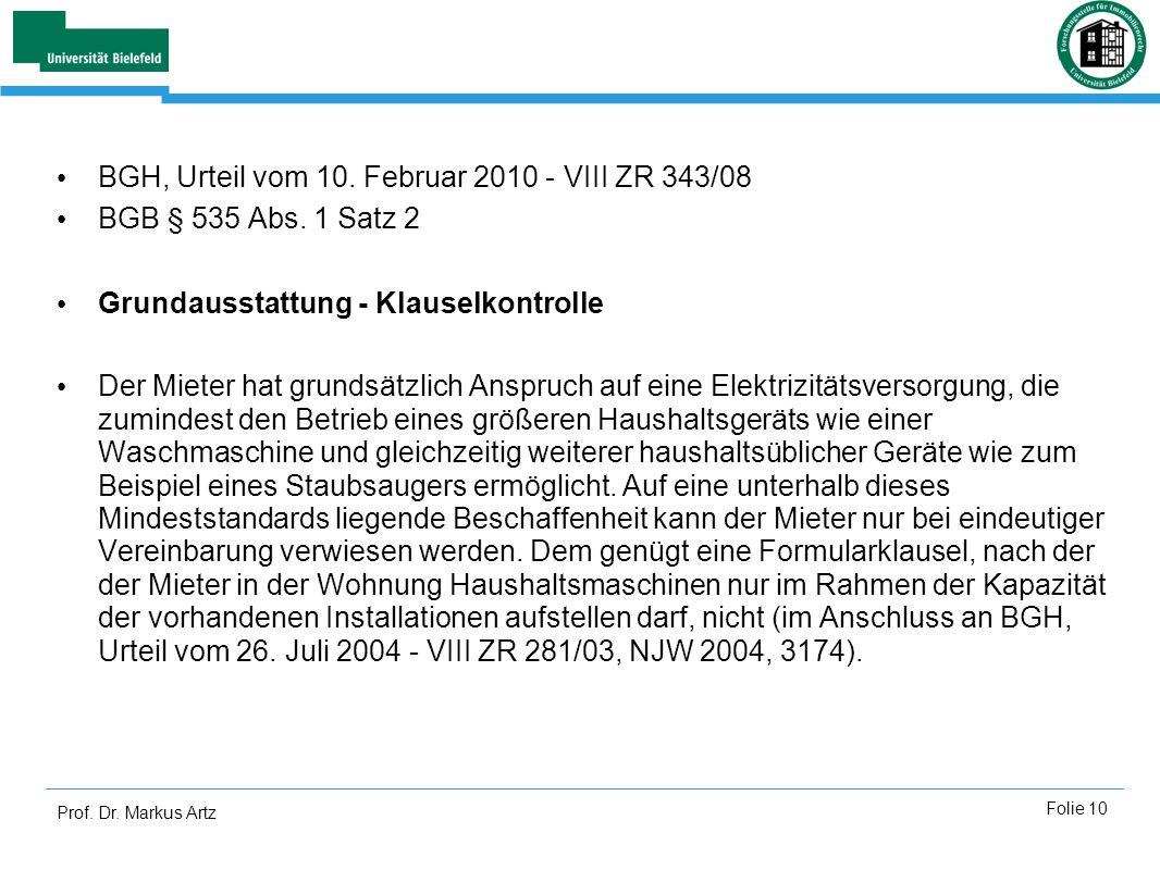 BGH, Urteil vom 10. Februar 2010 - VIII ZR 343/08
