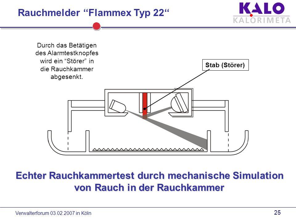 Rauchmelder ''Flammex Typ 22''