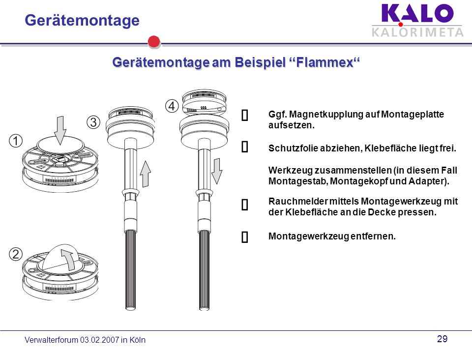 Gerätemontage am Beispiel ''Flammex''