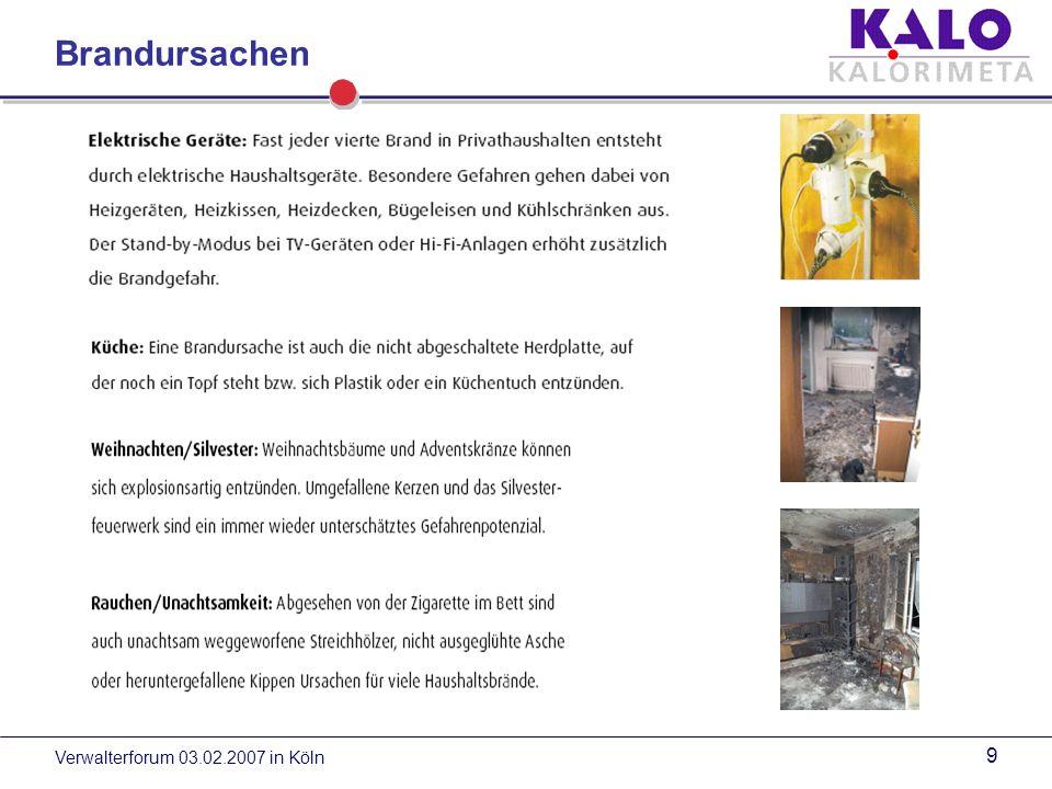 Brandursachen Verwalterforum 03.02.2007 in Köln