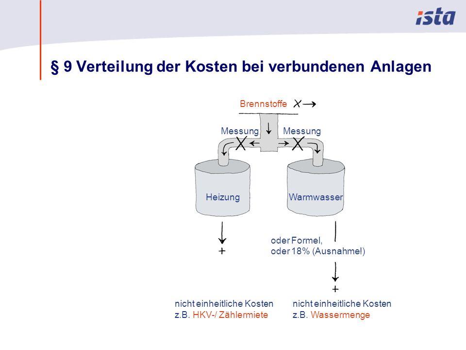 § 9 Verteilung der Kosten bei verbundenen Anlagen