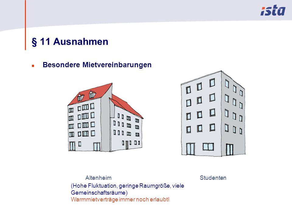 § 11 Ausnahmen Besondere Mietvereinbarungen Altenheim Studenten