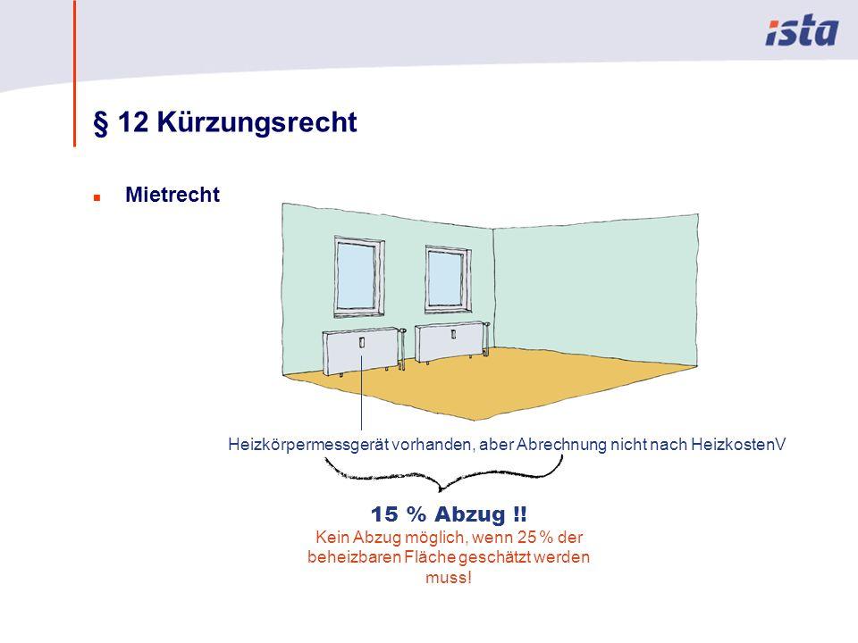 § 12 Kürzungsrecht Mietrecht