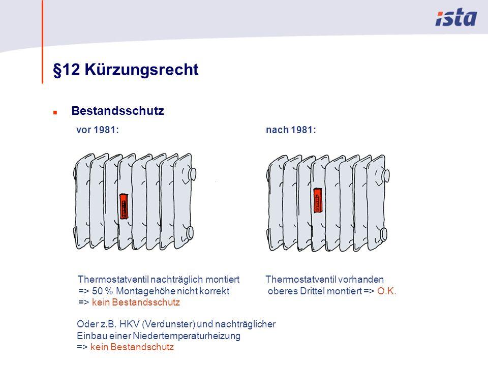 §12 Kürzungsrecht Bestandsschutz vor 1981: