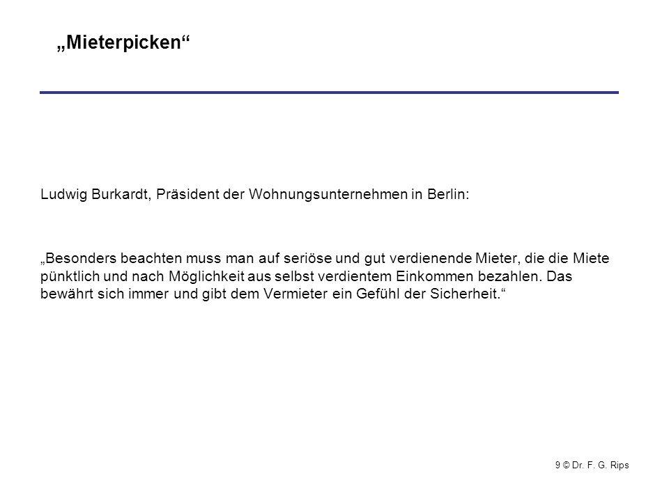 """""""Mieterpicken Ludwig Burkardt, Präsident der Wohnungsunternehmen in Berlin:"""