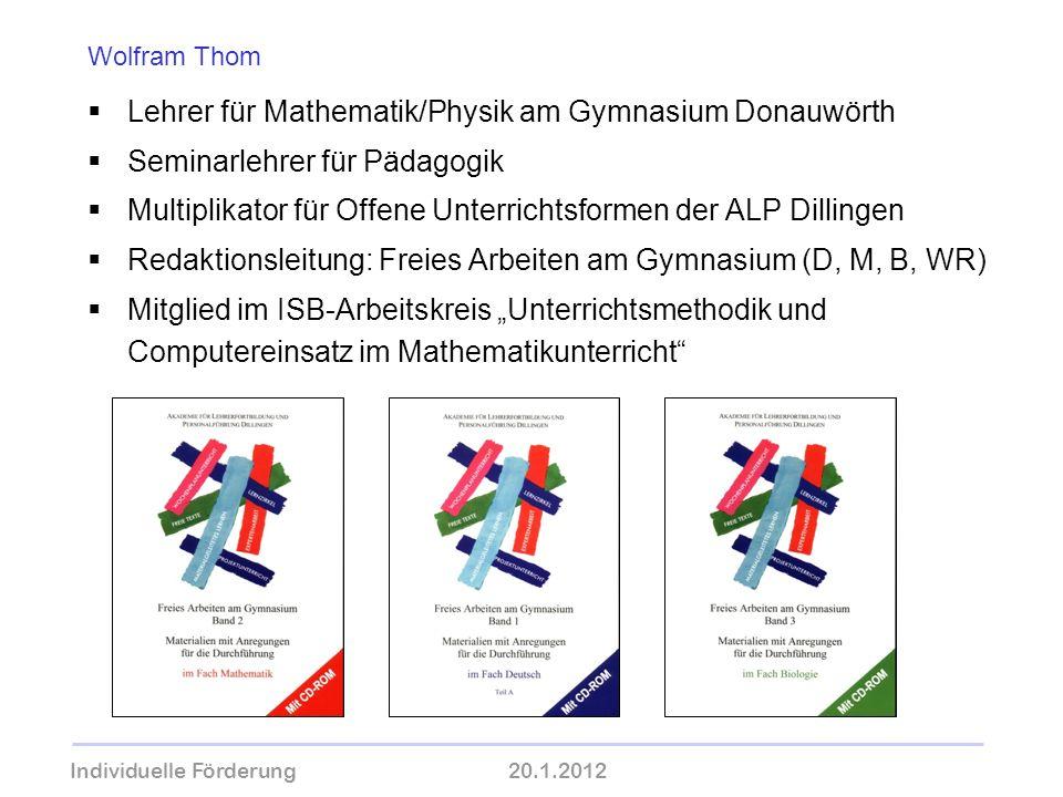 Lehrer für Mathematik/Physik am Gymnasium Donauwörth