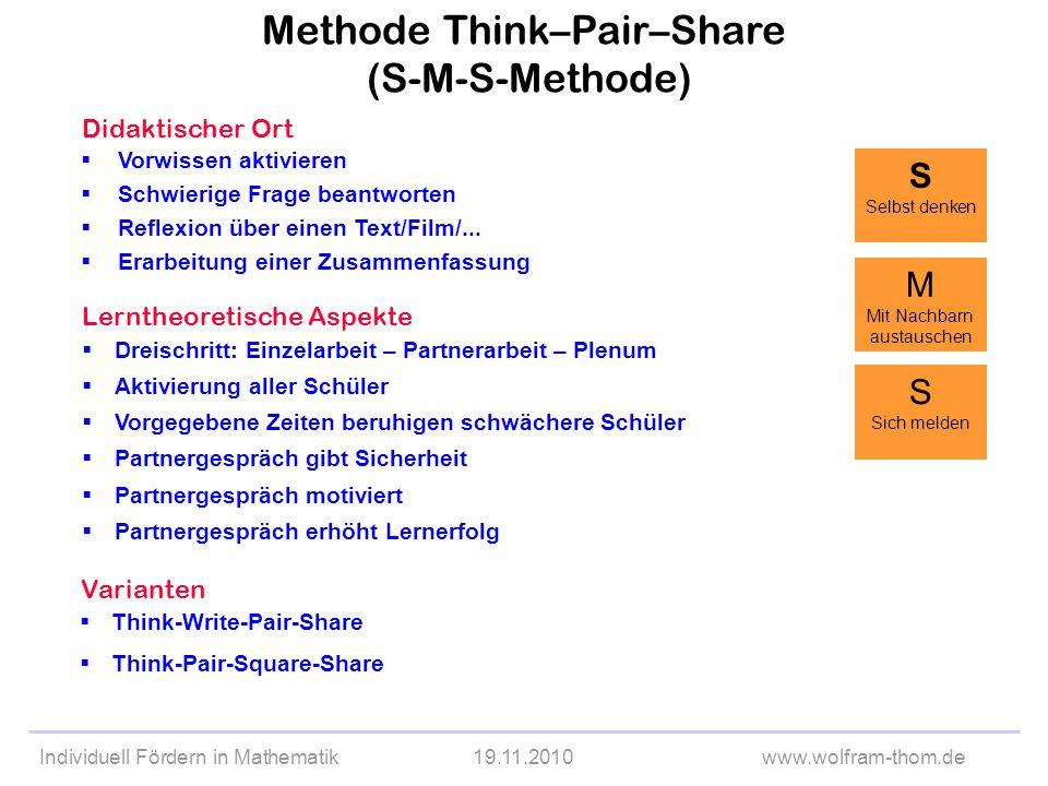 Methode Think–Pair–Share (S-M-S-Methode)