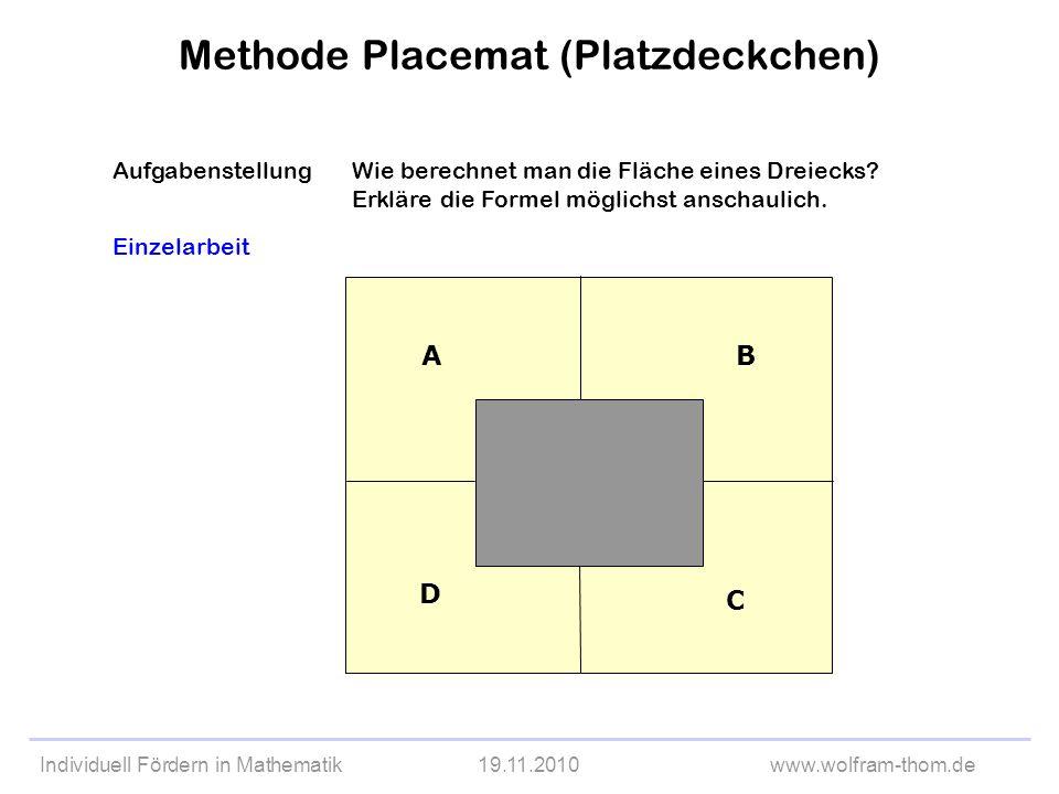 Methode Placemat (Platzdeckchen)