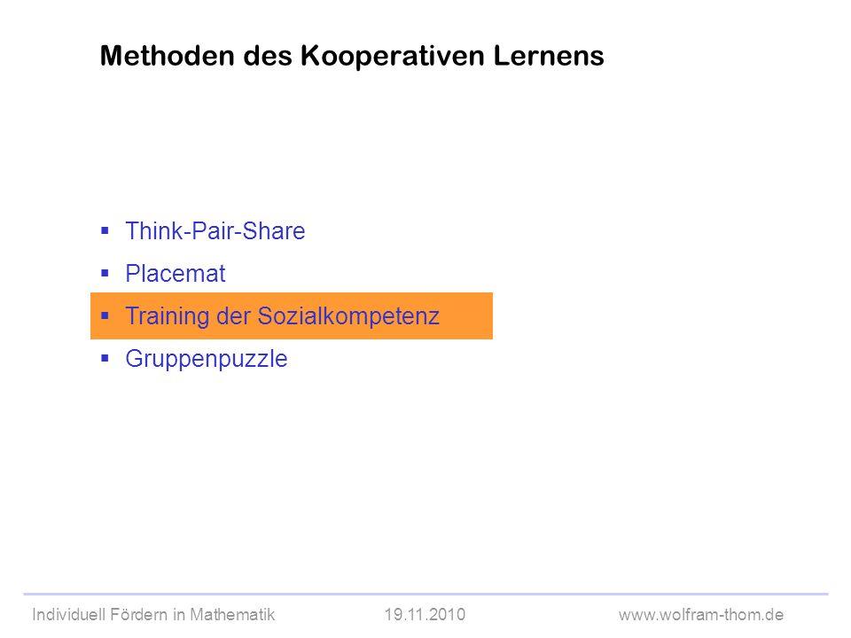 Methoden des Kooperativen Lernens