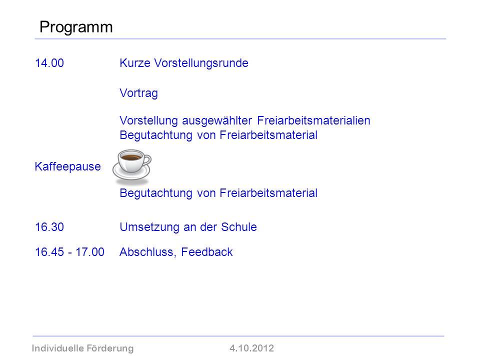 Programm 14.00 Kurze Vorstellungsrunde Vortrag