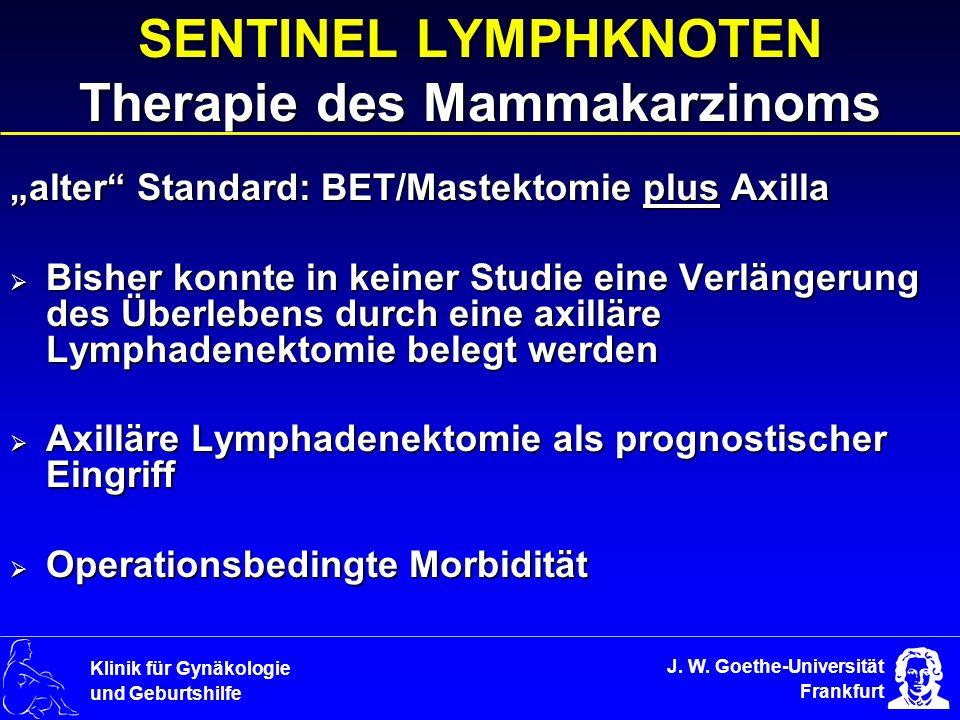 SENTINEL LYMPHKNOTEN Therapie des Mammakarzinoms