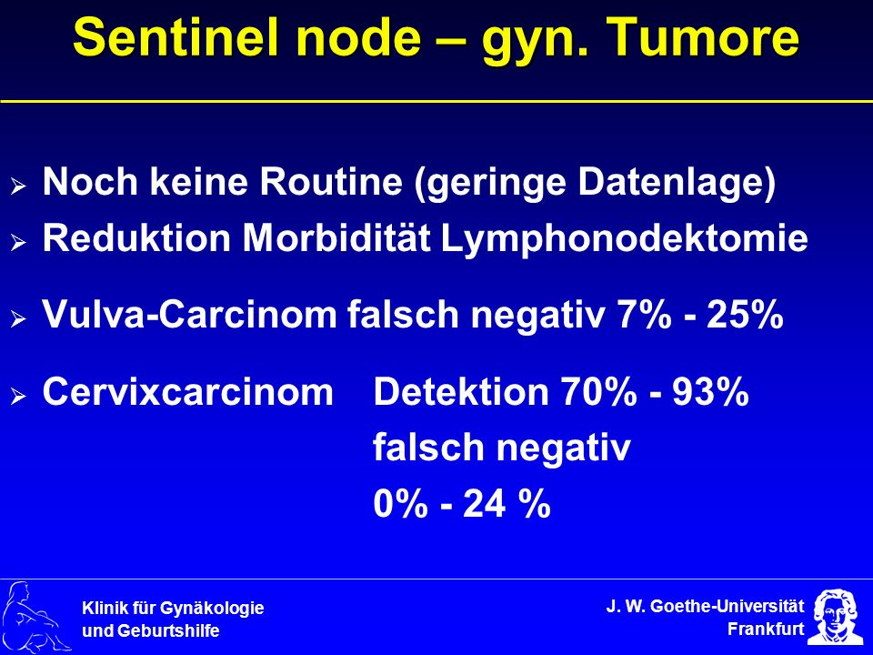 Sentinel node – gyn. Tumore