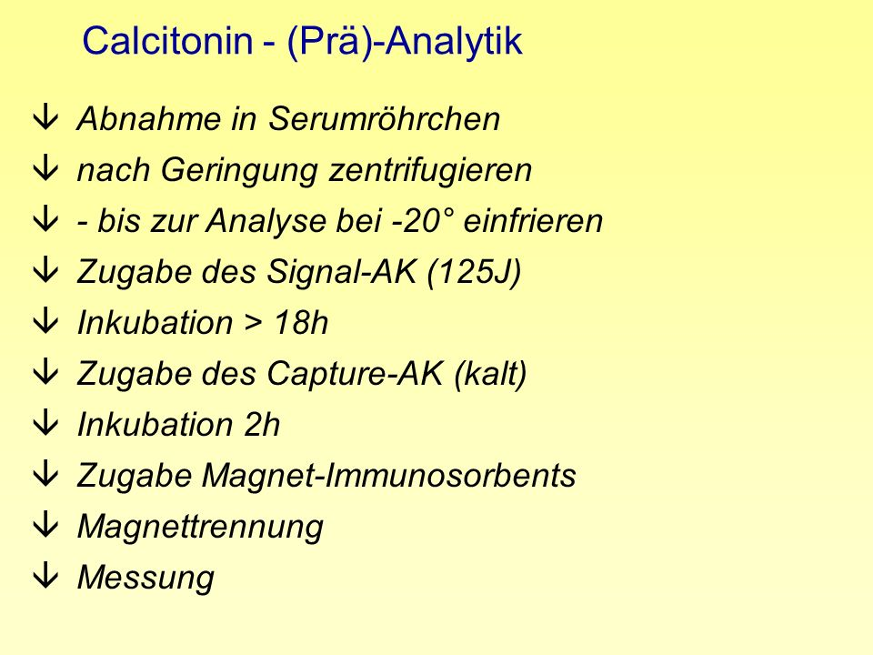 Calcitonin - (Prä)-Analytik