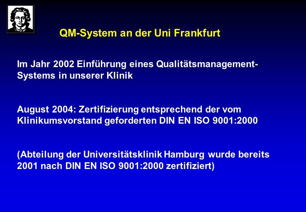 QM-System an der Uni Frankfurt