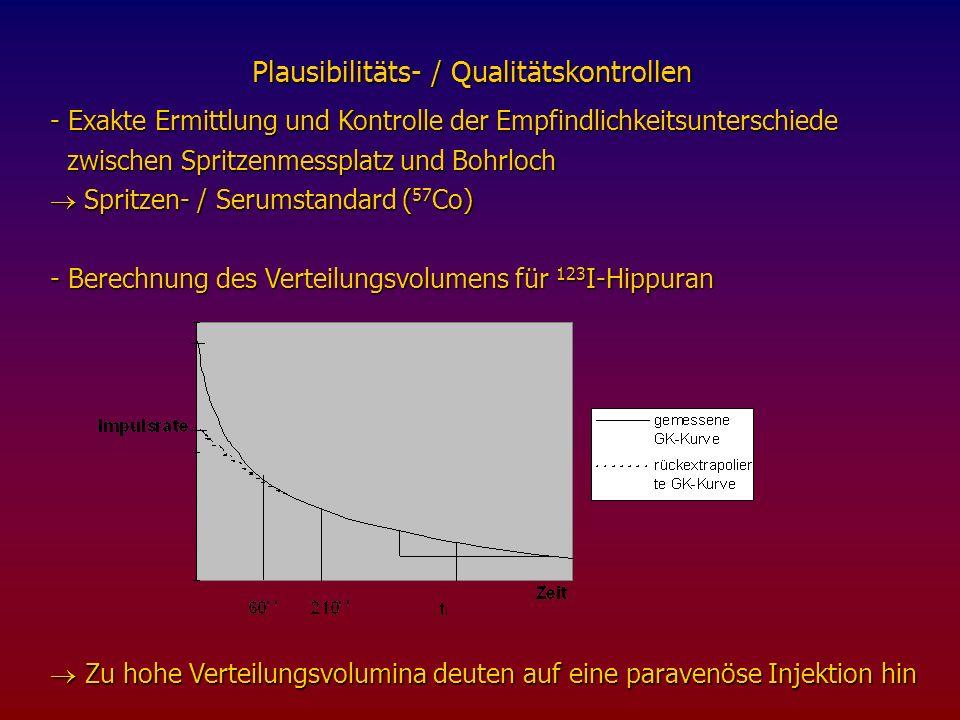 Plausibilitäts- / Qualitätskontrollen