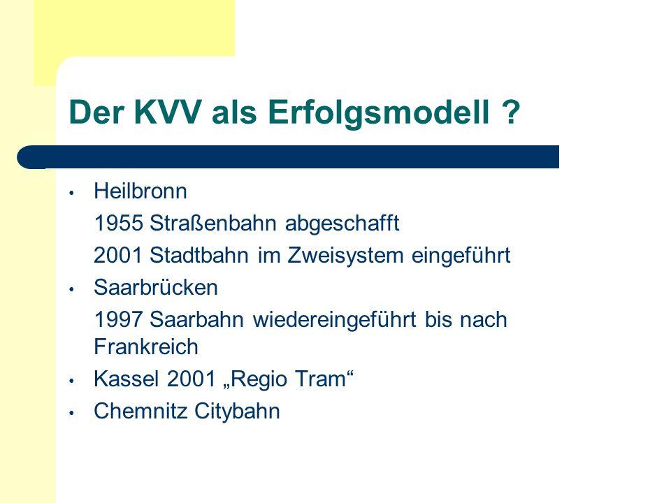 Der KVV als Erfolgsmodell