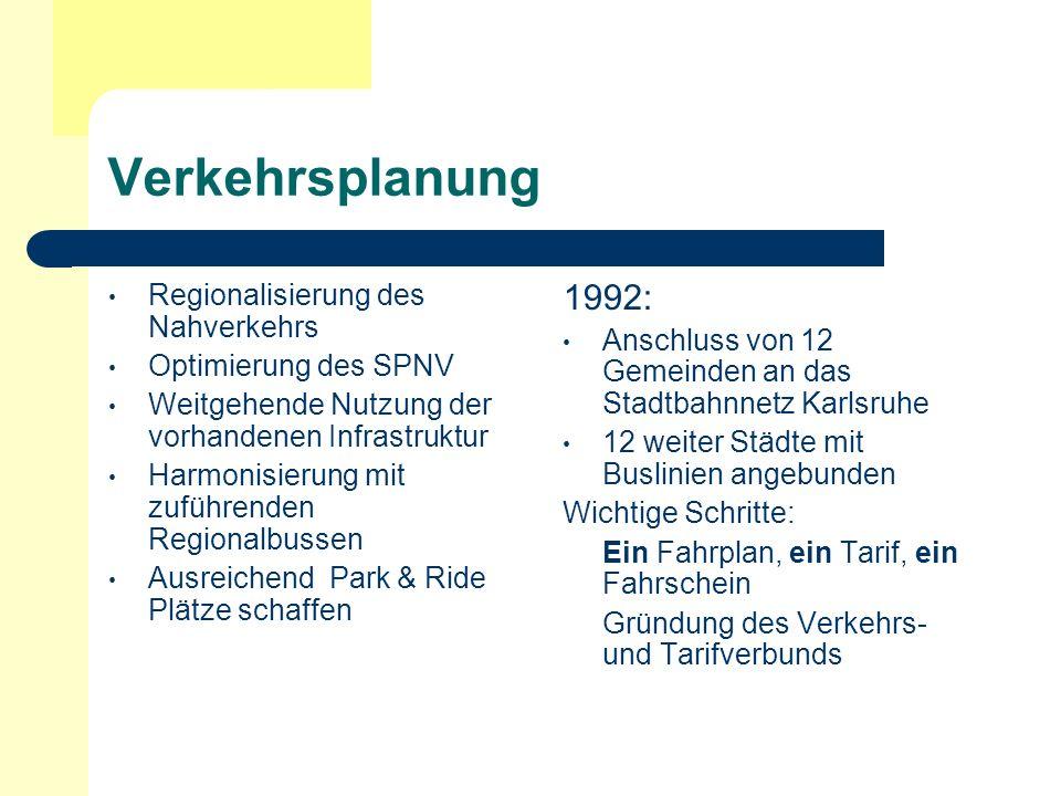 Verkehrsplanung 1992: Regionalisierung des Nahverkehrs