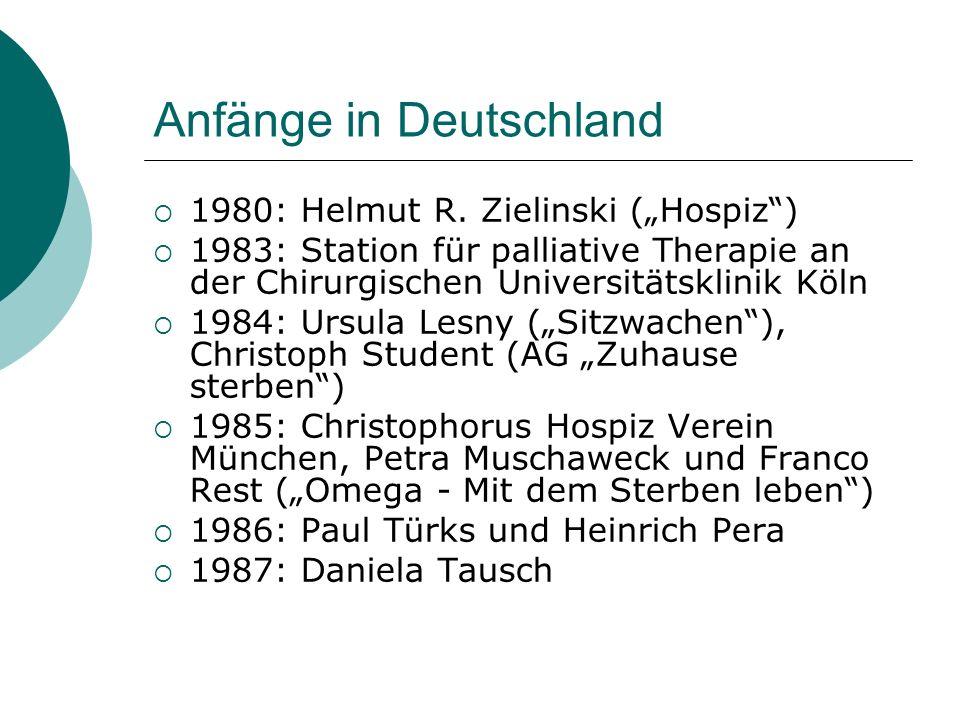 Anfänge in Deutschland