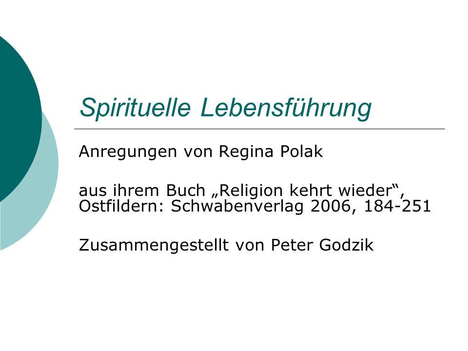 Spirituelle Lebensführung
