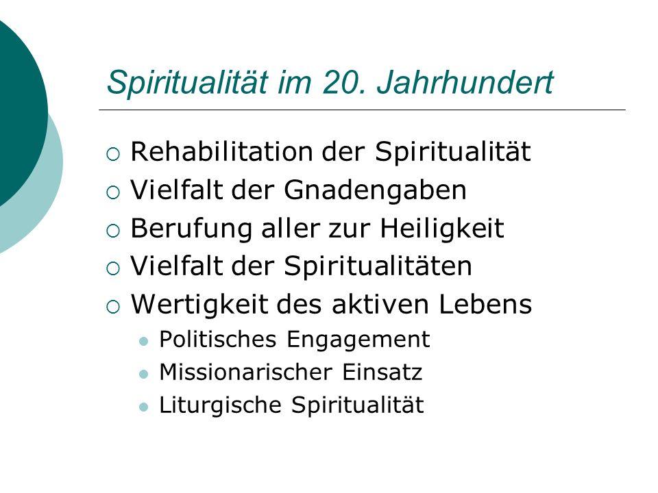 Spiritualität im 20. Jahrhundert