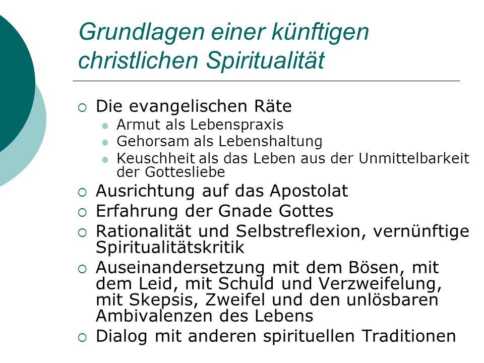 Grundlagen einer künftigen christlichen Spiritualität