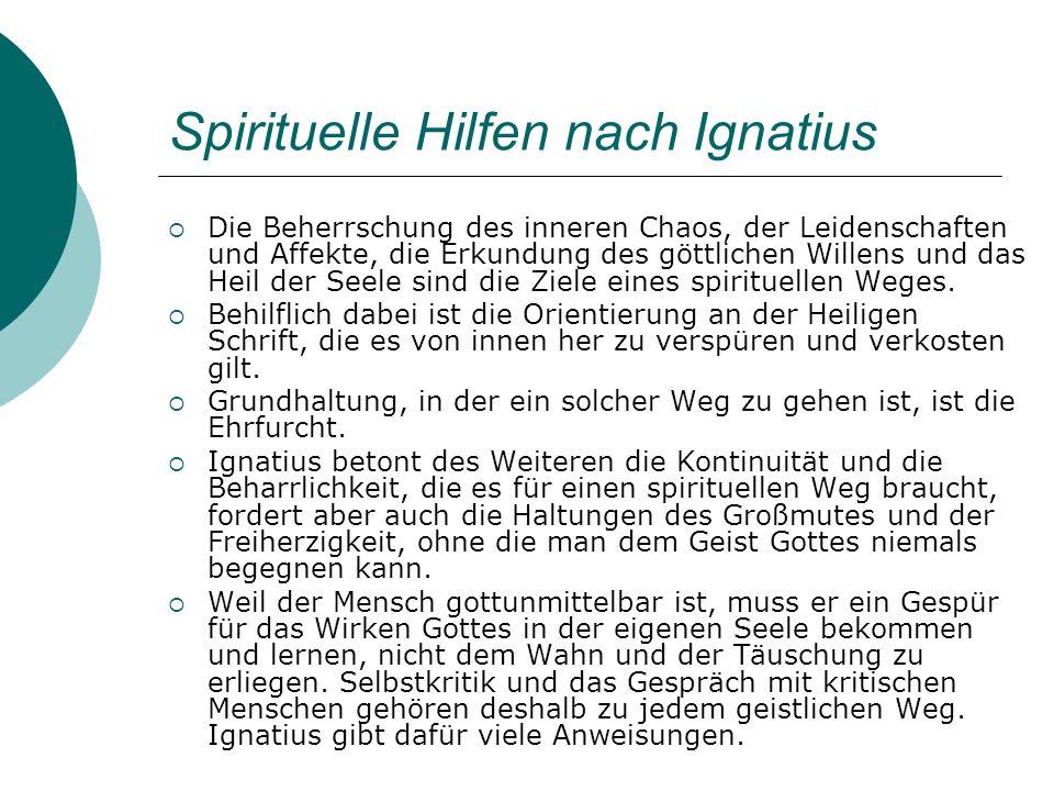 Spirituelle Hilfen nach Ignatius