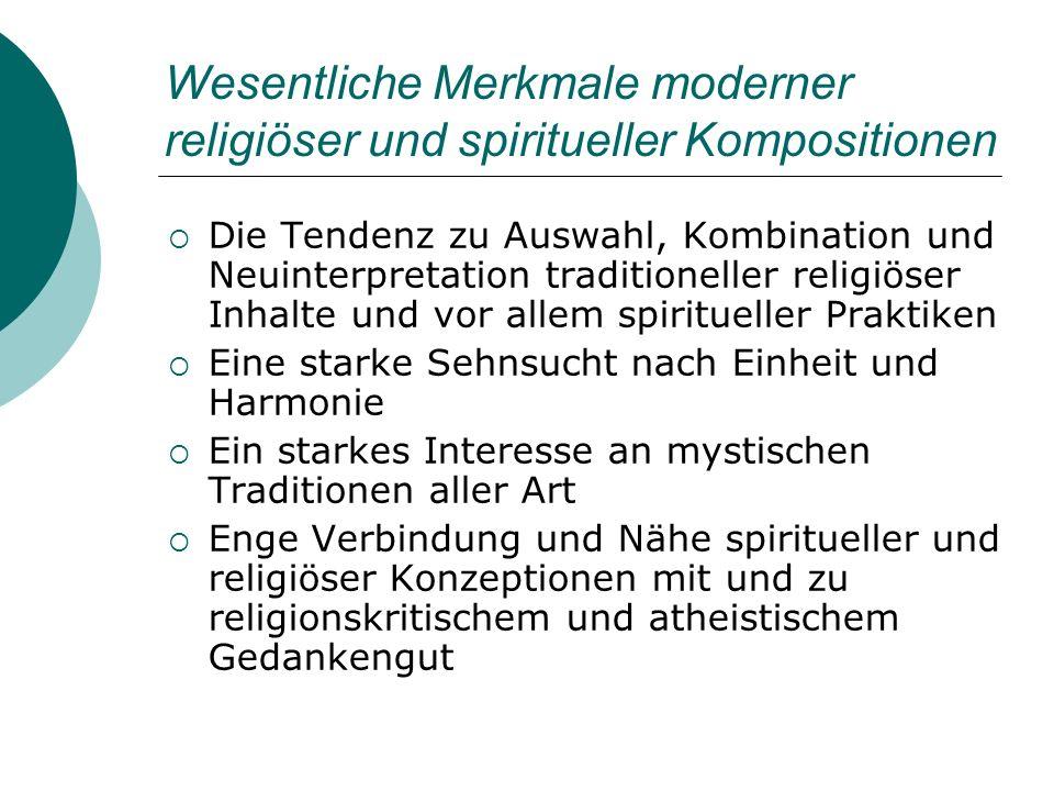 Wesentliche Merkmale moderner religiöser und spiritueller Kompositionen
