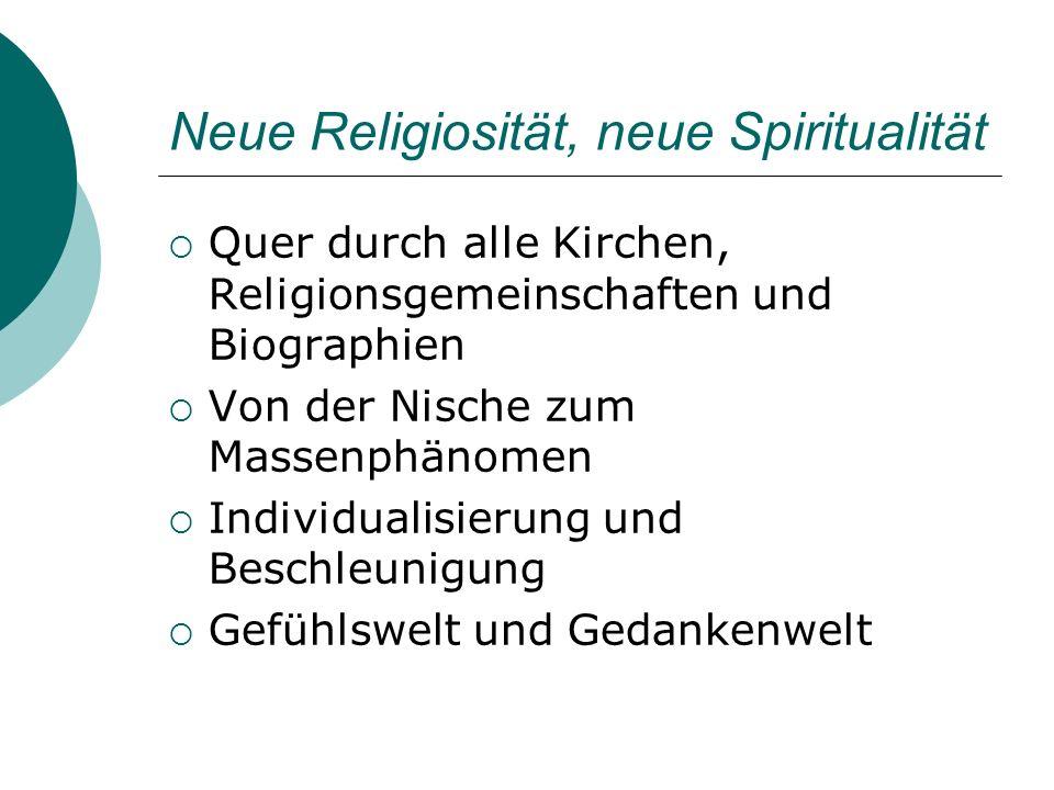 Neue Religiosität, neue Spiritualität