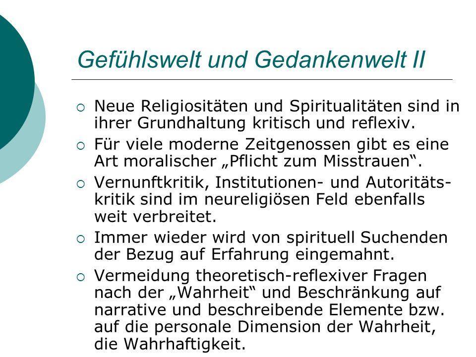 Gefühlswelt und Gedankenwelt II