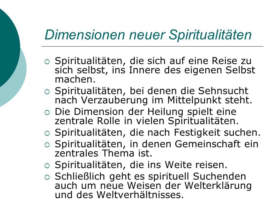 Dimensionen neuer Spiritualitäten