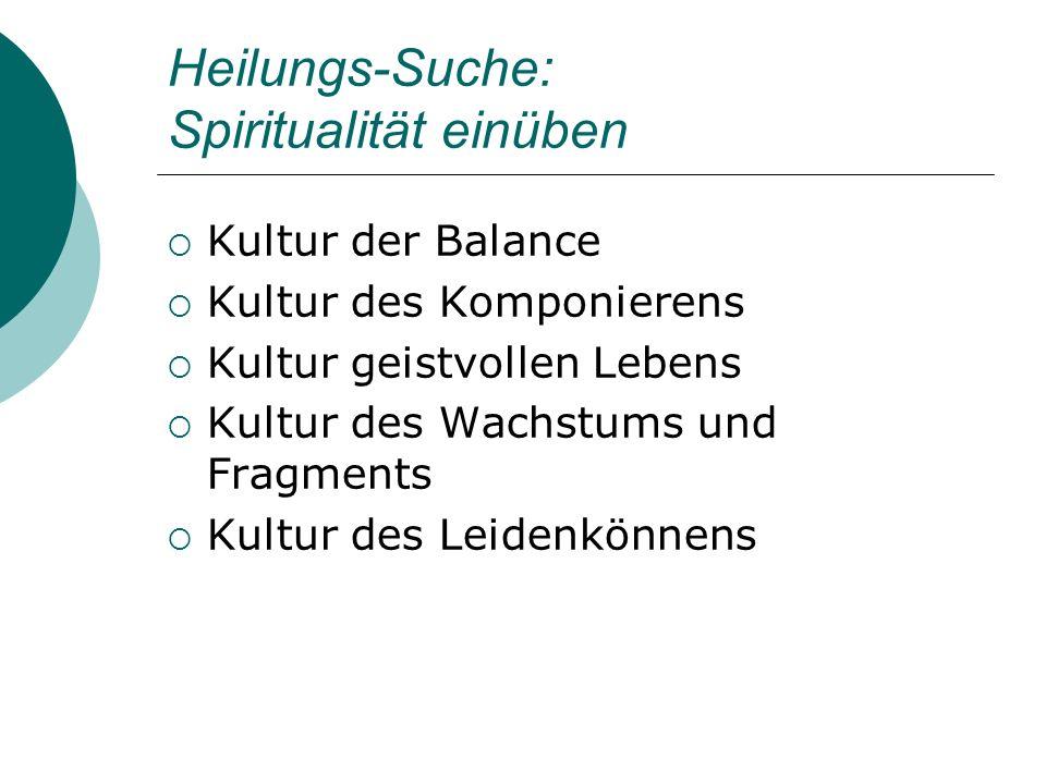 Heilungs-Suche: Spiritualität einüben