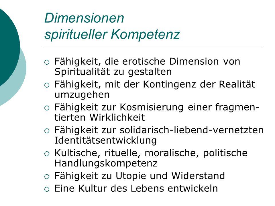 Dimensionen spiritueller Kompetenz