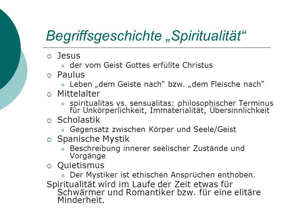 """Begriffsgeschichte """"Spiritualität"""