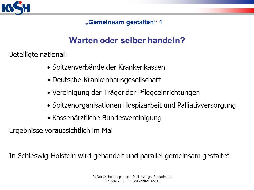 """""""Gemeinsam gestalten 1 Warten oder selber handeln"""