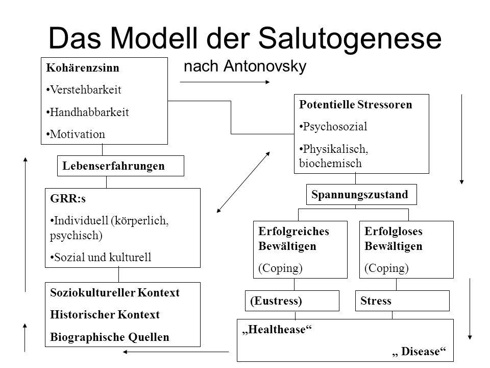 Das Modell der Salutogenese nach Antonovsky