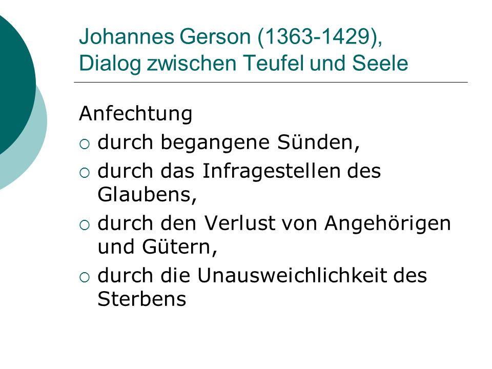 Johannes Gerson (1363-1429), Dialog zwischen Teufel und Seele