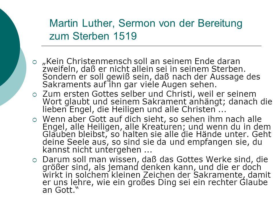 Martin Luther, Sermon von der Bereitung zum Sterben 1519