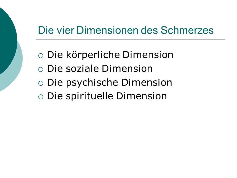 Die vier Dimensionen des Schmerzes