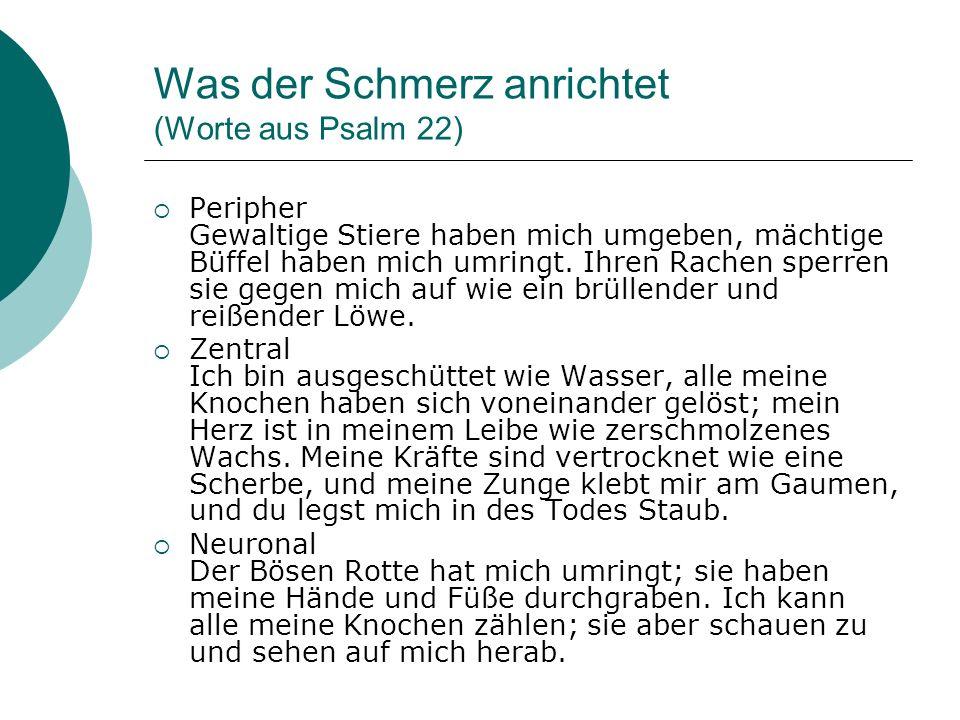 Was der Schmerz anrichtet (Worte aus Psalm 22)