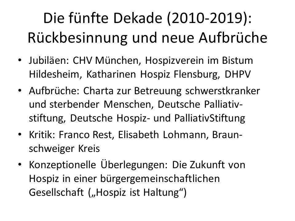 Die fünfte Dekade (2010-2019): Rückbesinnung und neue Aufbrüche