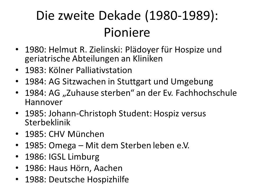 Die zweite Dekade (1980-1989): Pioniere