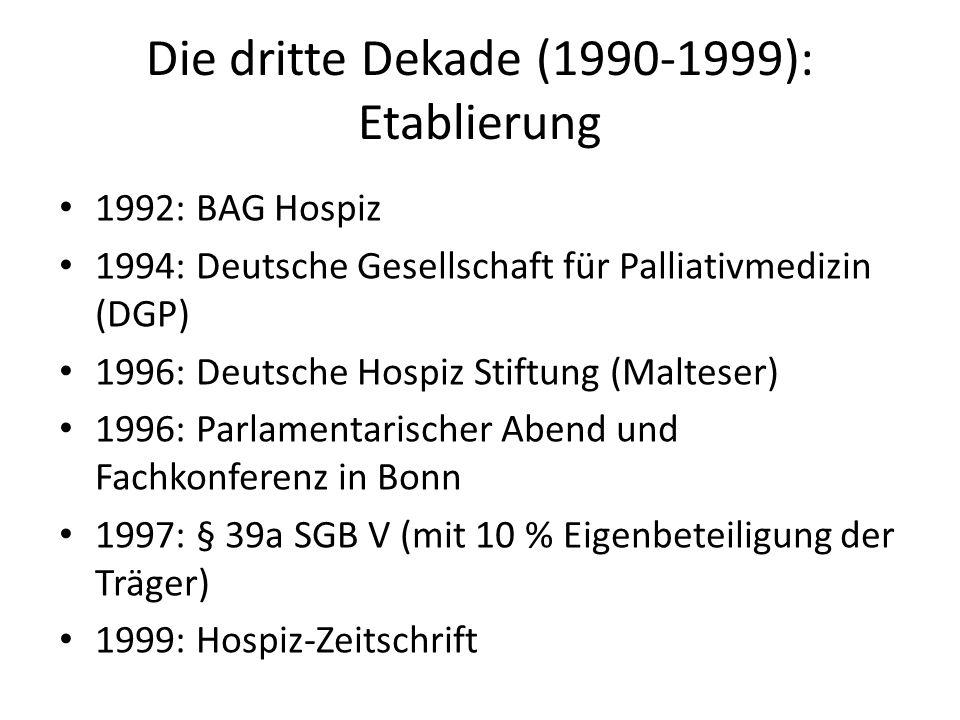 Die dritte Dekade (1990-1999): Etablierung