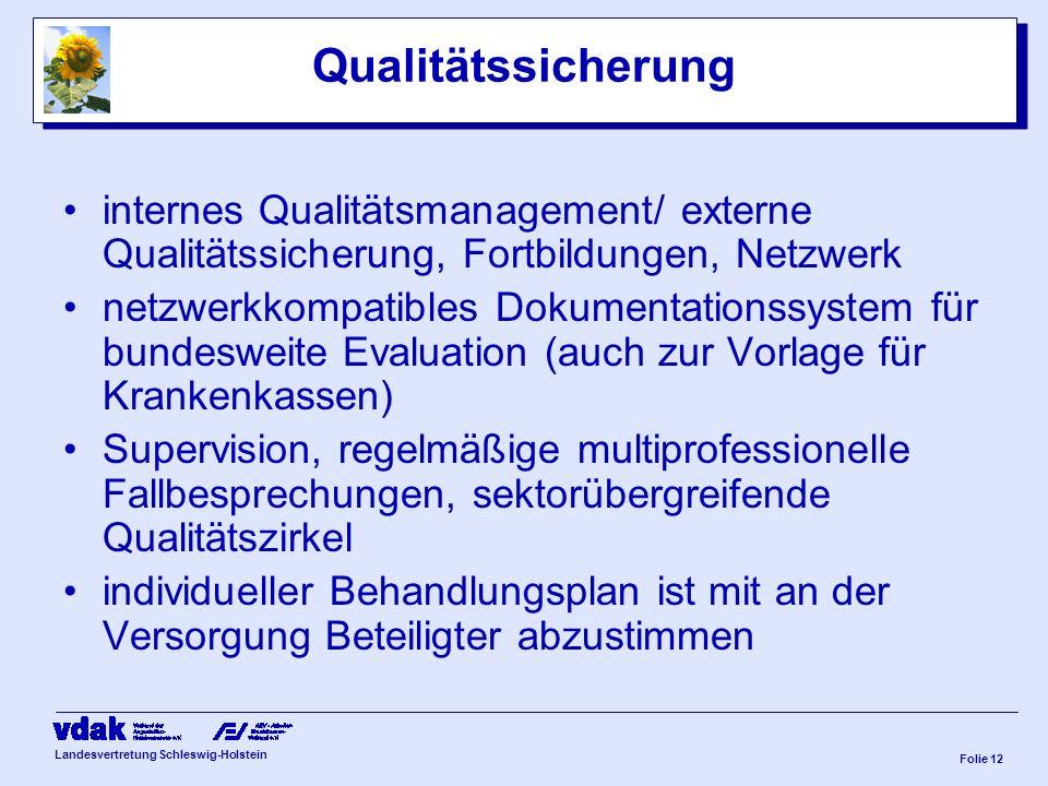 Qualitätssicherung internes Qualitätsmanagement/ externe Qualitätssicherung, Fortbildungen, Netzwerk.