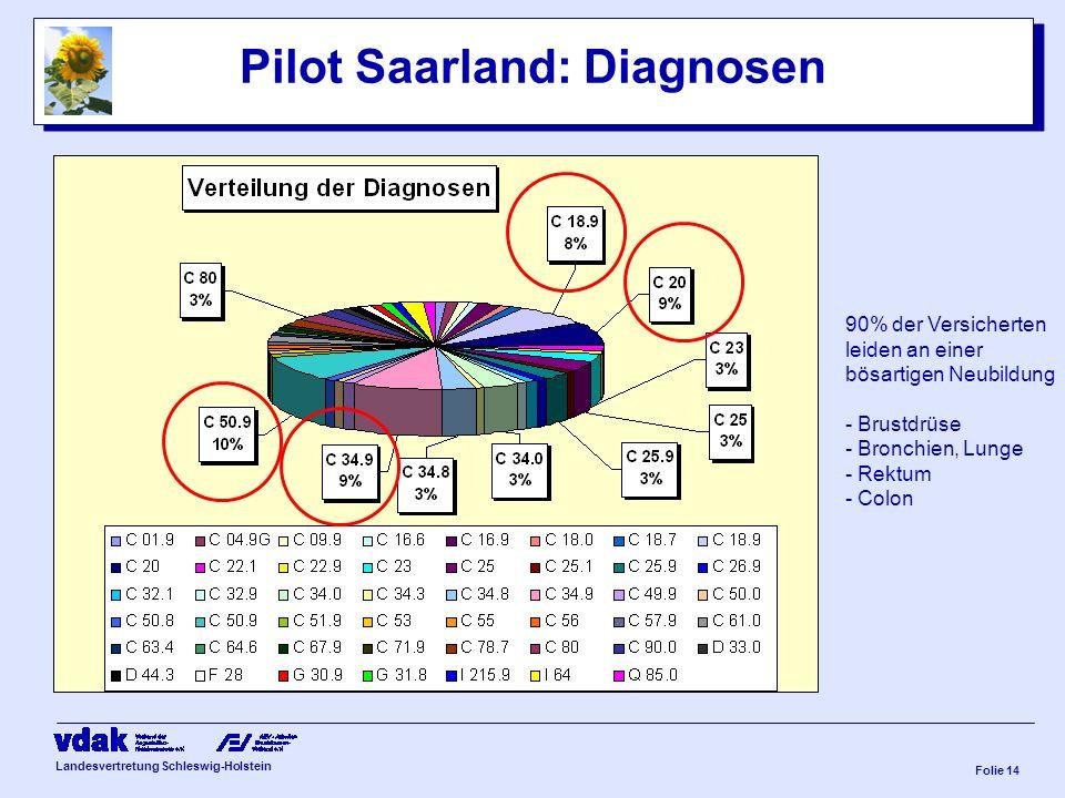 Pilot Saarland: Diagnosen