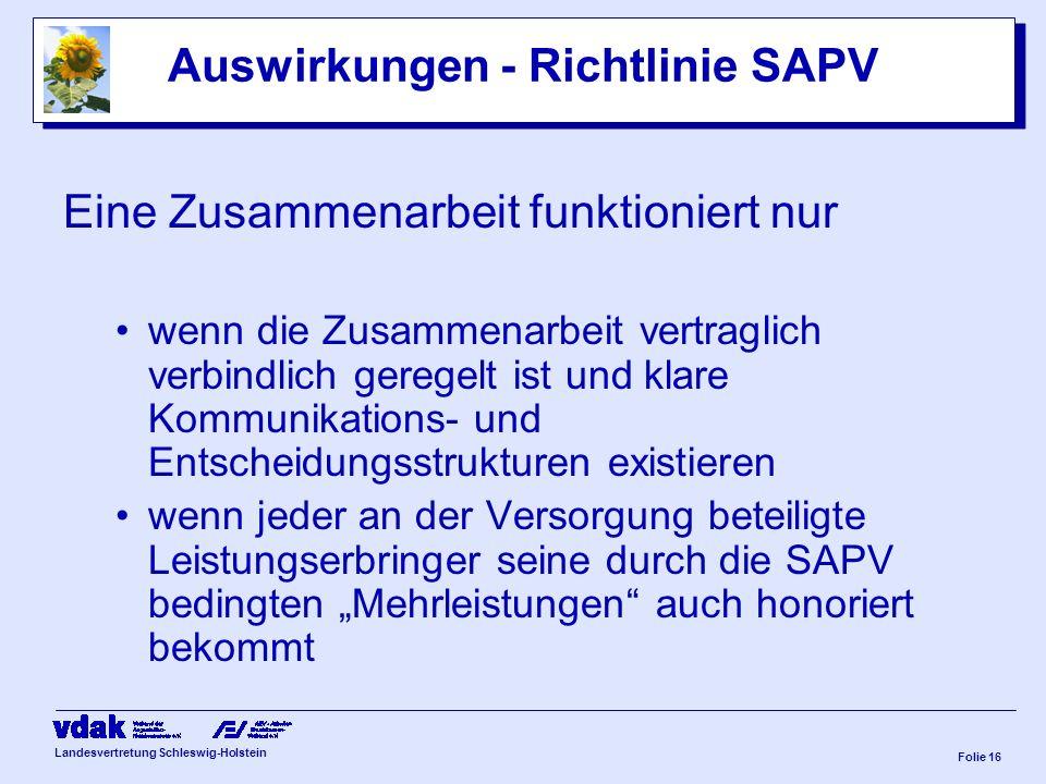 Auswirkungen - Richtlinie SAPV
